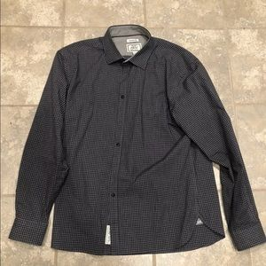Jos a bank men's dress shirt XL blue grey